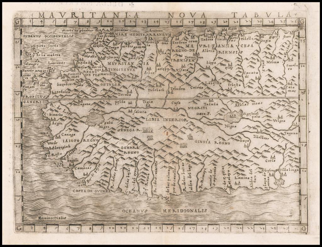 Mauritania Nova Tabula By Giacomo Gastaldi
