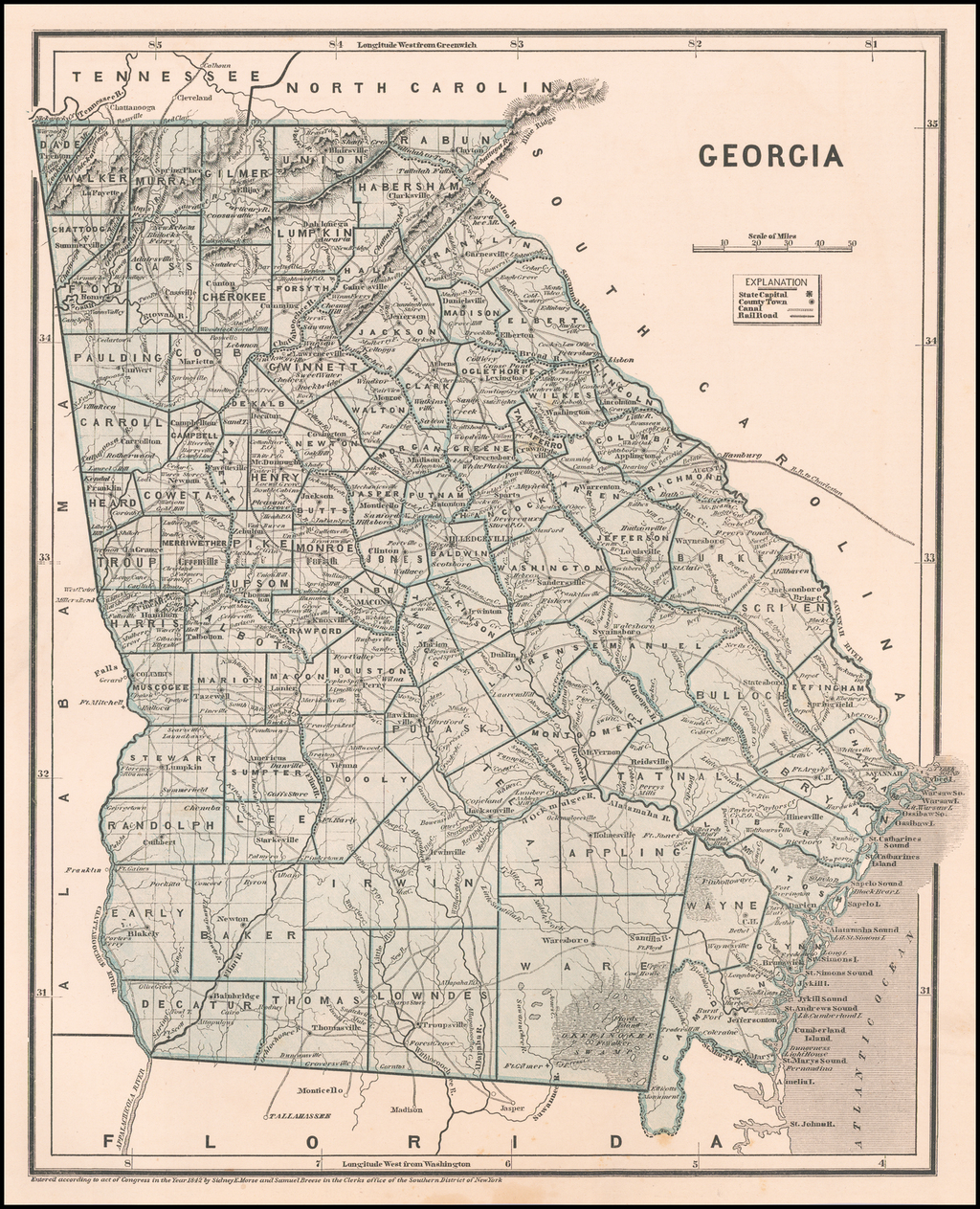 Georgia By Sidney Morse  &  Samuel Breese