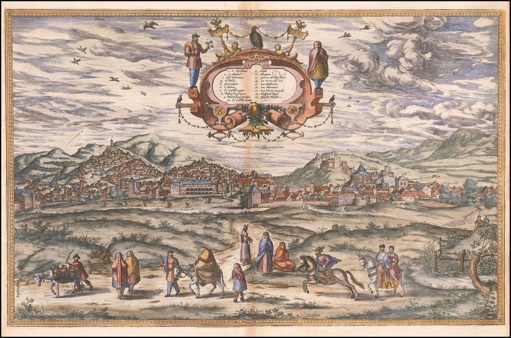 Granada 1563 By Georg Braun  &  Frans Hogenberg