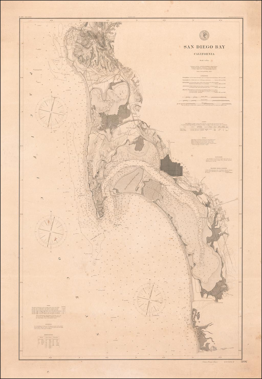 San Diego Bay California . . . 1895 By U.S. Coast & Geodetic Survey