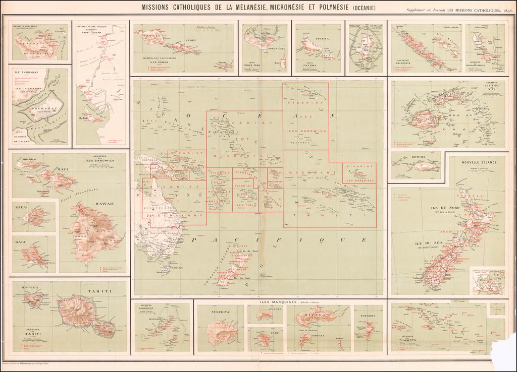 Missions Catholiques De La Melanesie, Micronesie et Polynesie (Oceanie) By Journal Les Missions Catholiques