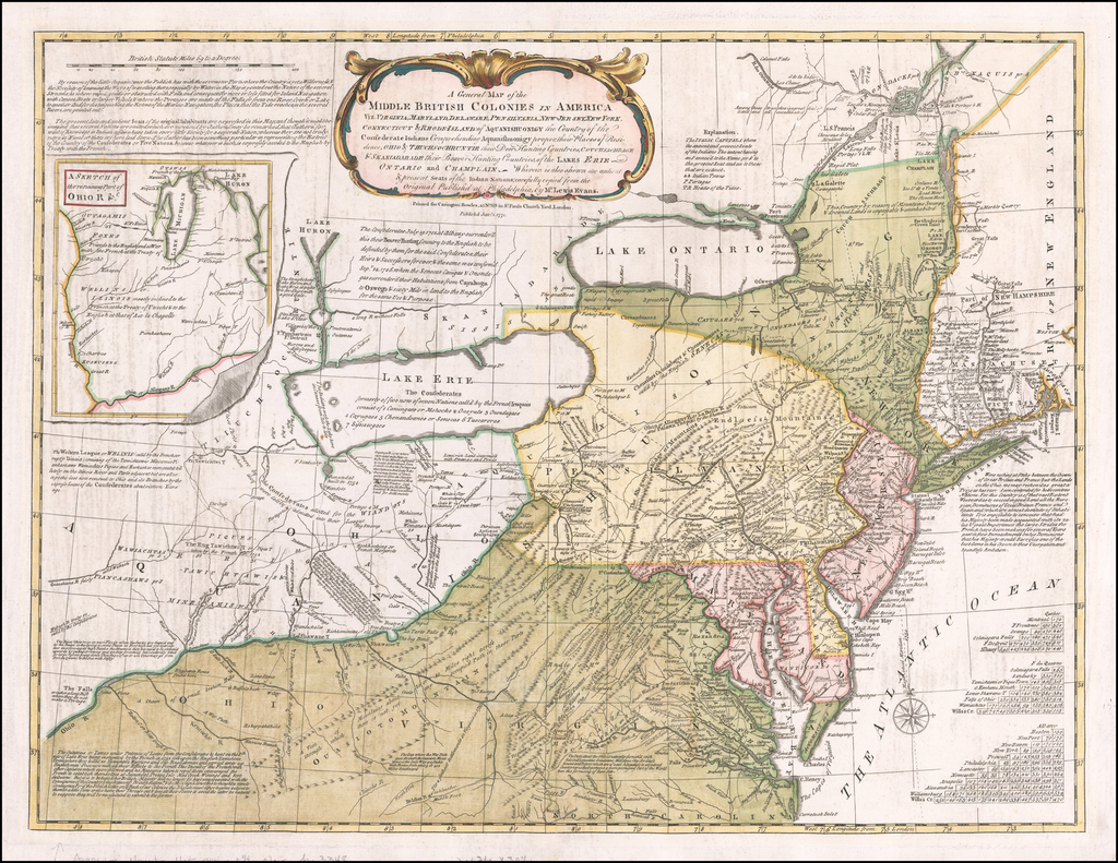 A General Map of the Middle British Colonies In America, viz ...