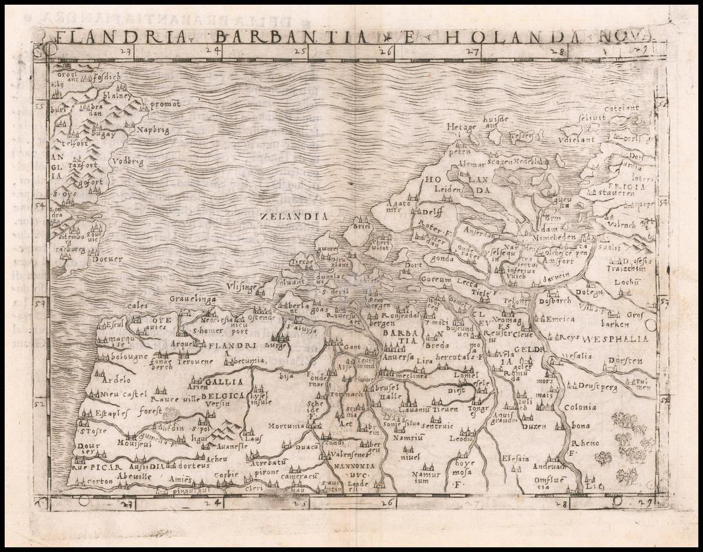 Flandria, Barbantia e Holanda Nova By Giacomo Gastaldi
