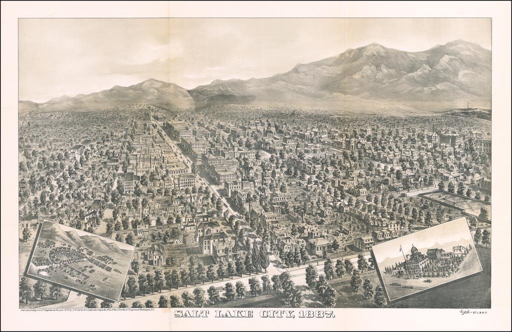 Salt Lake City, 1887 (with Salt Lake City Illustrated) By Augustus Gast