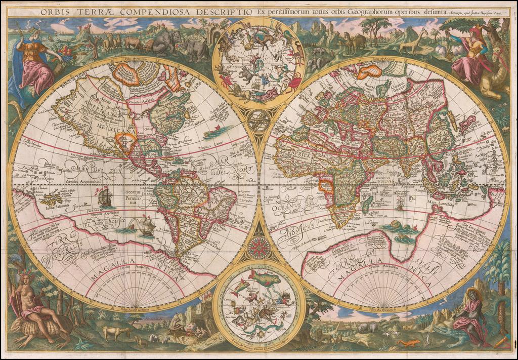 Orbis Terrae Compendiosa Descriptio Ex peristissimorum totius orbis Gaeographorum operibus desumpta . . .  By Johannes Baptista Vrients