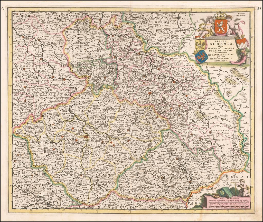 Regnum Bohemia eique Annexae Provinciae ut Ducatus Silesia, Marchionatus Moravia et Lusatia: quae sunt Terrae Haereditariae Imperiatoris By Frederick De Wit