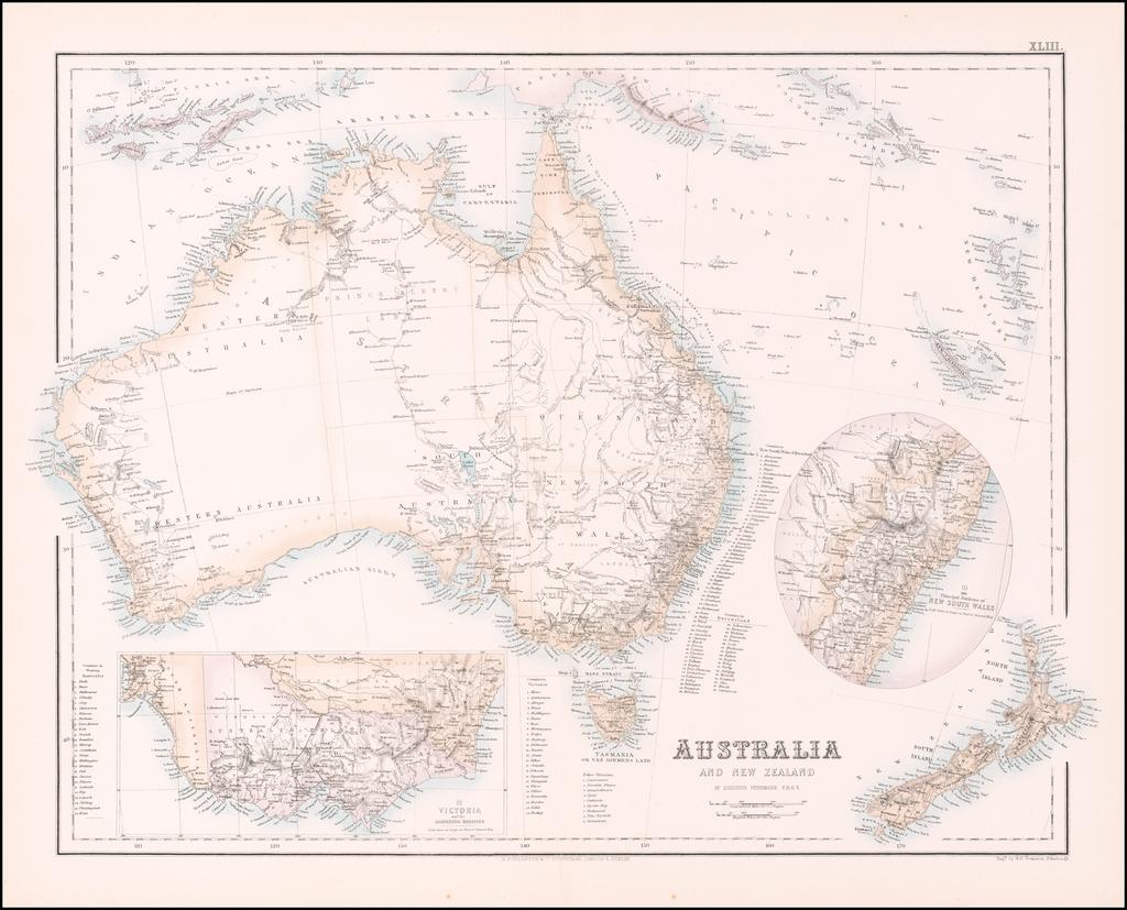 Australia And New Zealand. By Archibald Fullarton & Co.