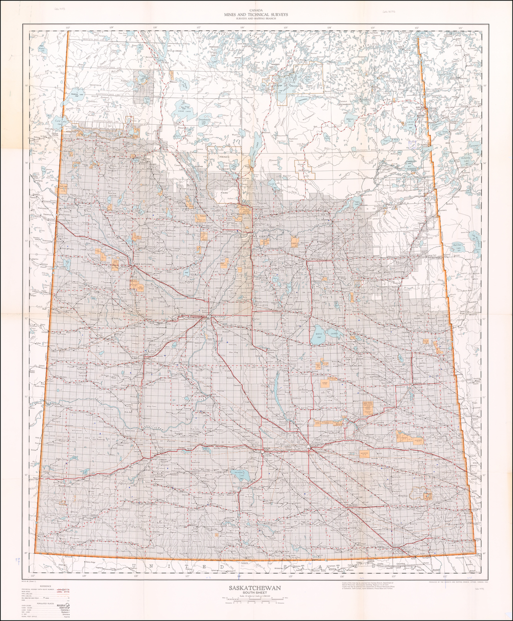Saskatchewan South Sheet By Department of Natural Resources