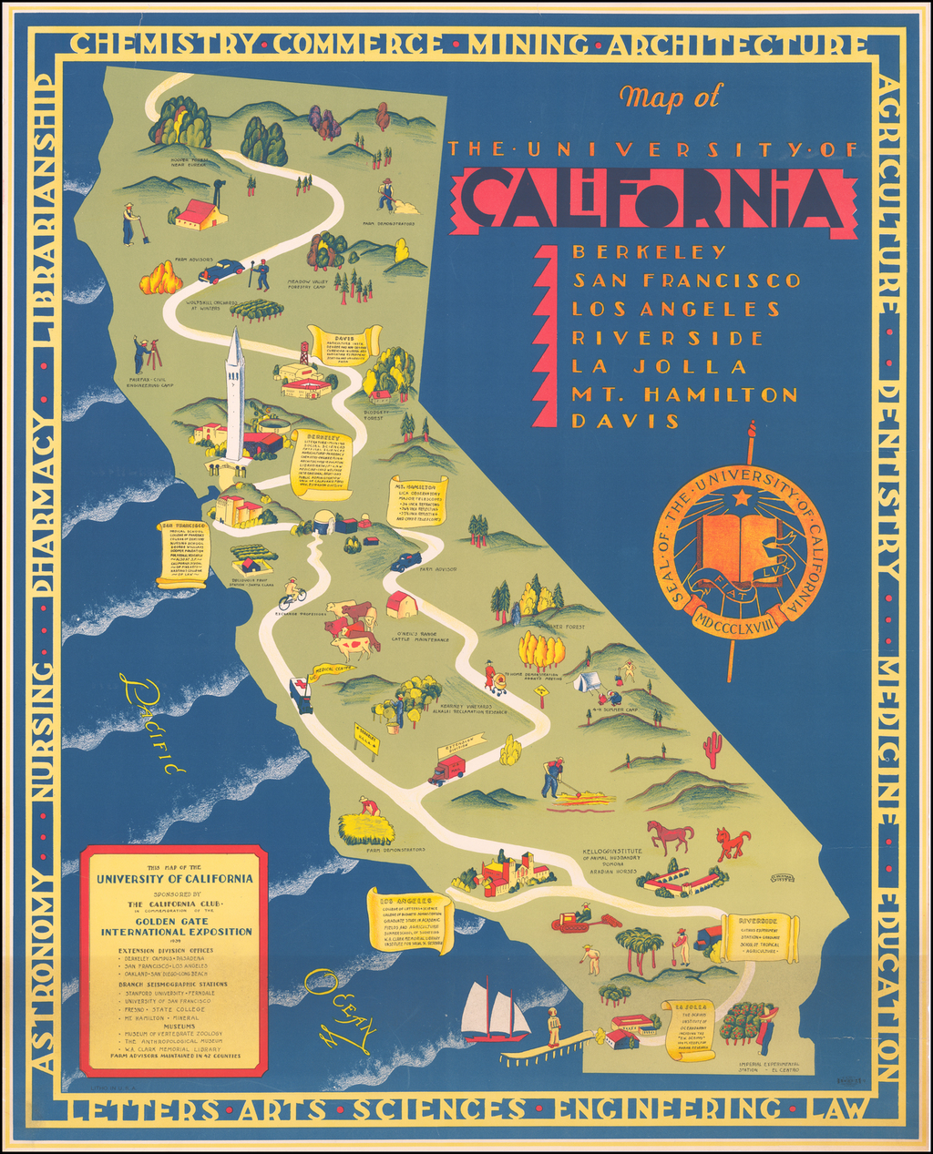 Map of the University of California . . .  By S. Iachman