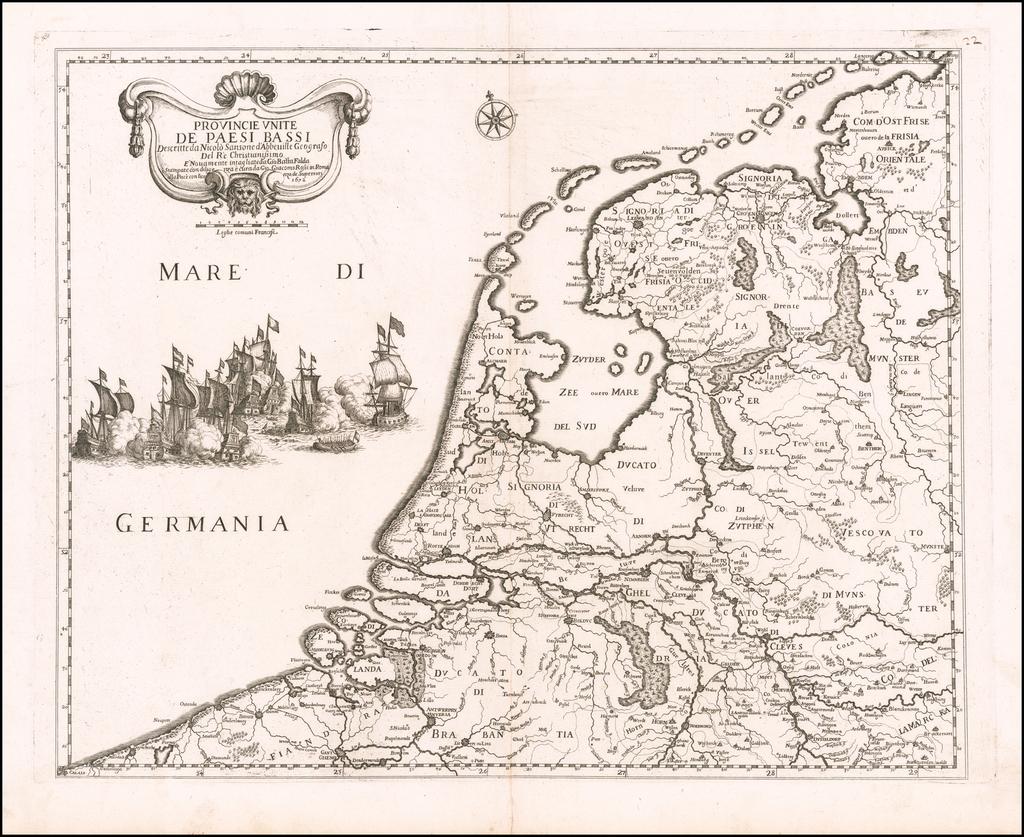 Provincie Unite De Paesi Bassi . . . 1672 By Giacomo Giovanni Rossi