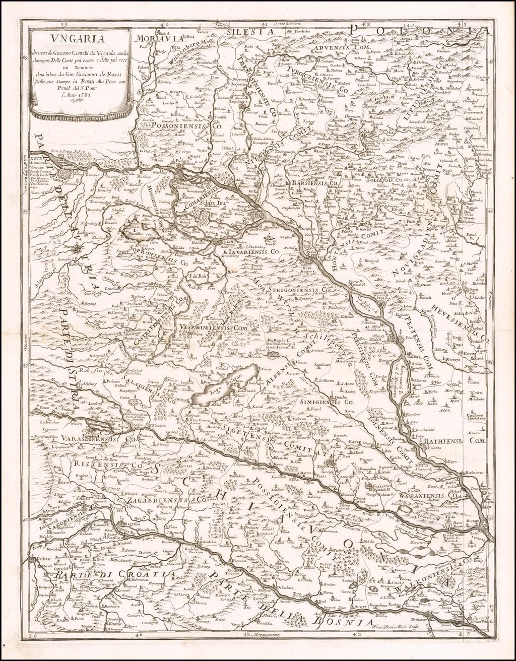 Ungaria Descritta . . . 1683 By Giacomo Giovanni Rossi