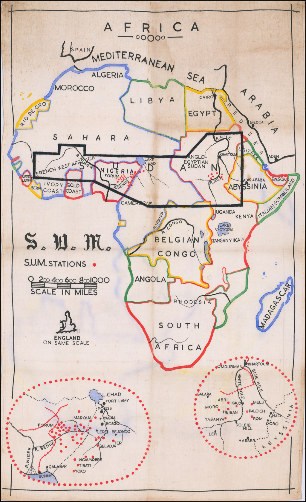 Africa S.U.M. Stations By Sudan United Mission