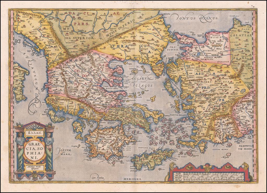 Graecia Sophiani . . . By Abraham Ortelius