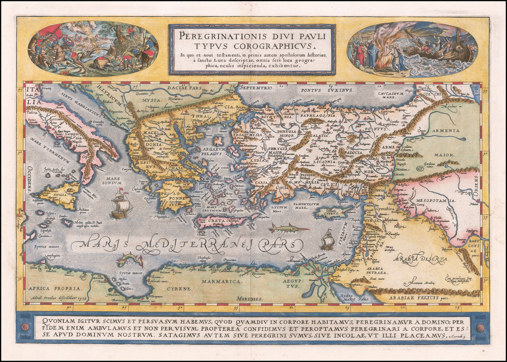 Peregrinationis Divi Pauli Typus Corographicus . . . By Abraham Ortelius