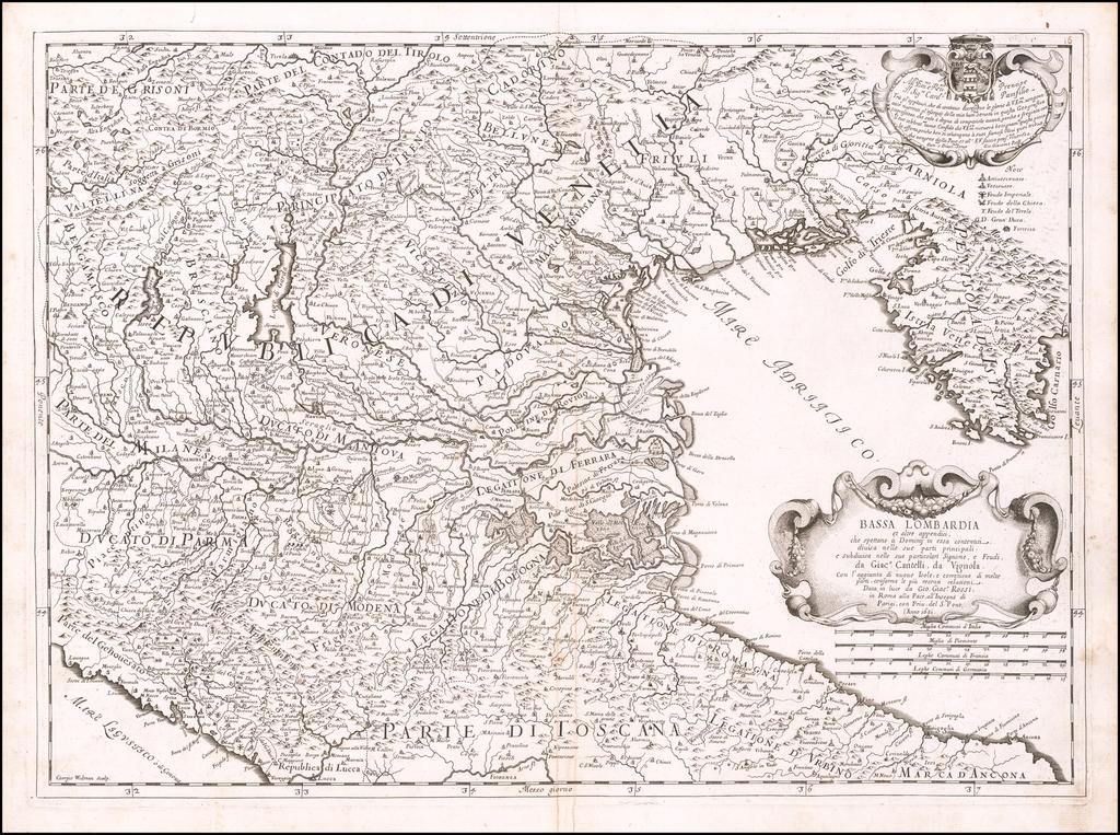 Bassa Lombardia et latre appendici . . .1681 By Giacomo Giovanni Rossi