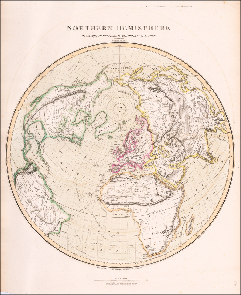 Northern Hemisphere Projected On The Plan of The Horizon of London By Geo. Buchanan By John Thomson