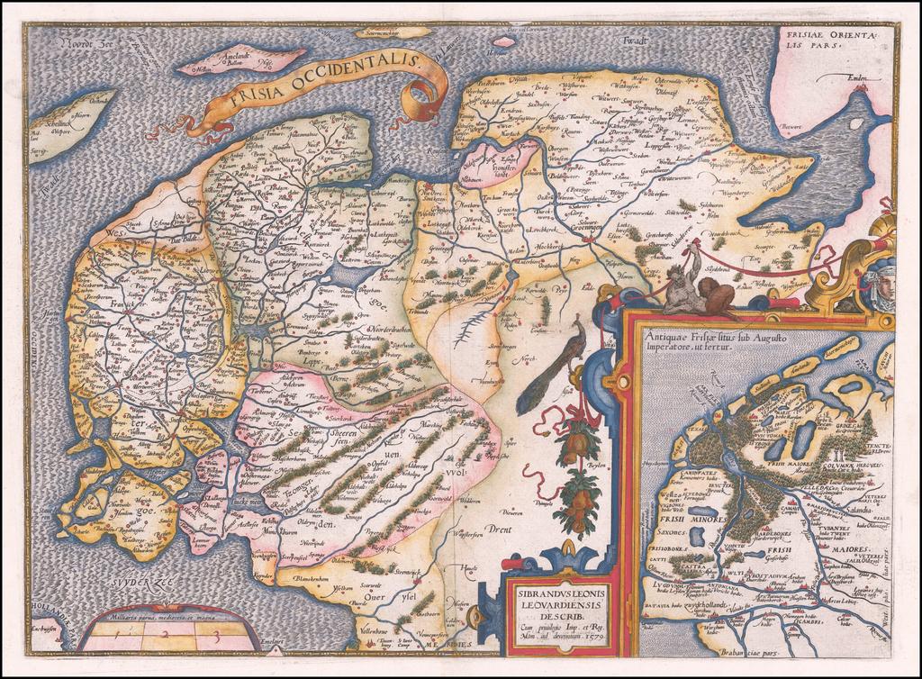 Frisia Occidentalis By Abraham Ortelius