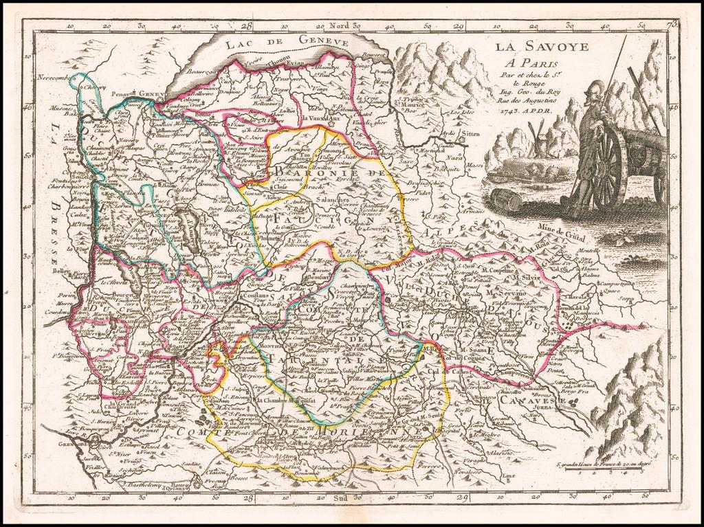 La Savoye . . . 1743 By George Louis Le Rouge