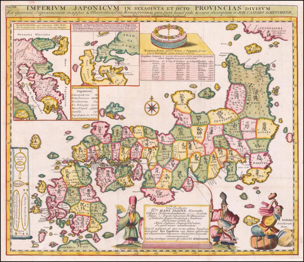 Imperium Japonicum Per Sexaginta et Octo  Provincias Divisum.  By Engelbert Kaempfer
