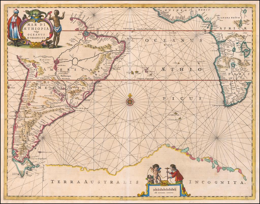 Mar Di Aethiopia Vulgo Oceanus Aethiopicus By Jan Jansson