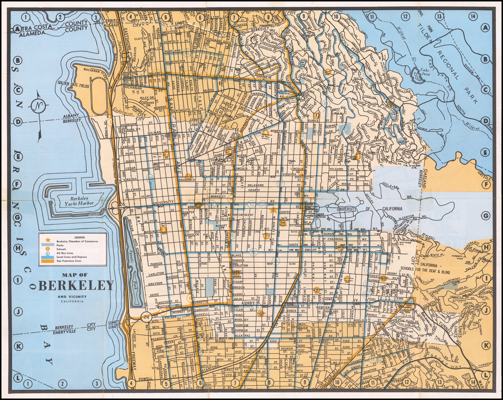 Map of Berkeley and Vicinity By Anonymous