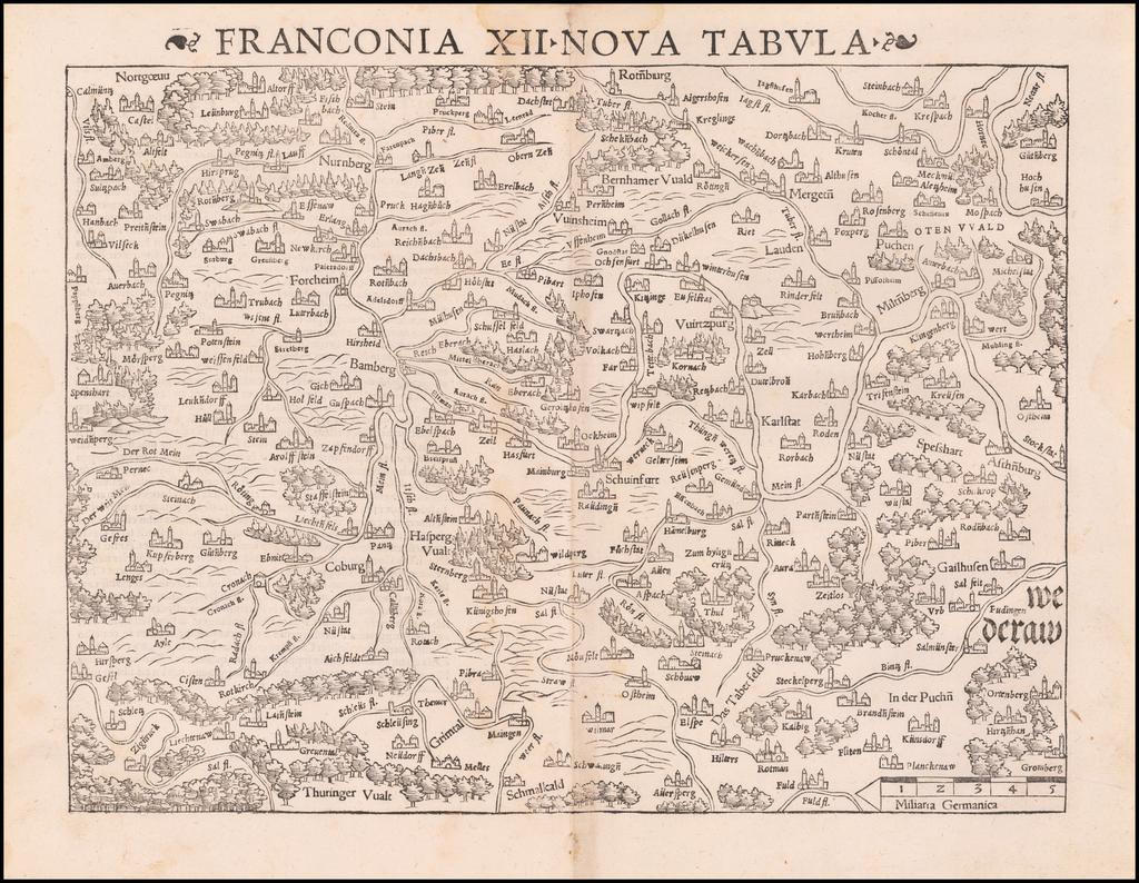 Franconia XII Nova Tabula By Sebastian Münster