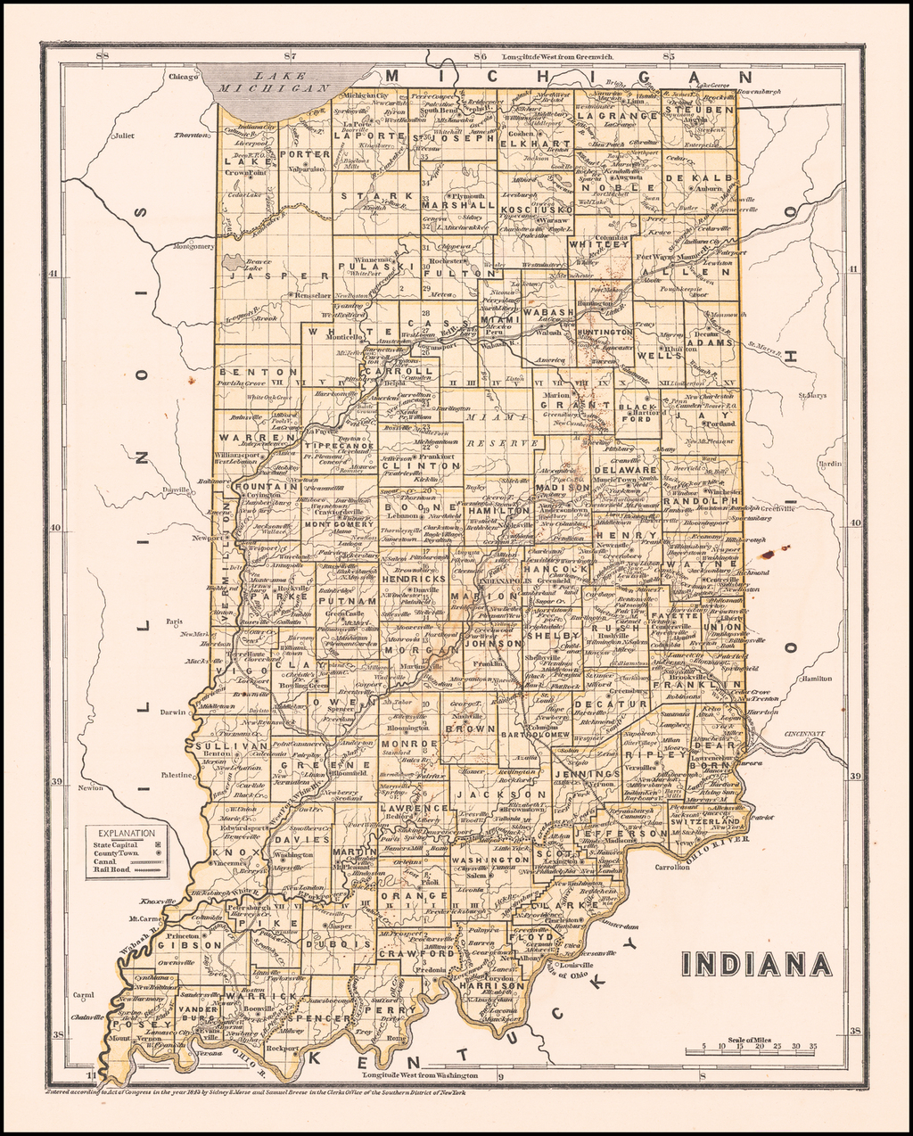 Indiana By Sidney Morse  &  Samuel Breese