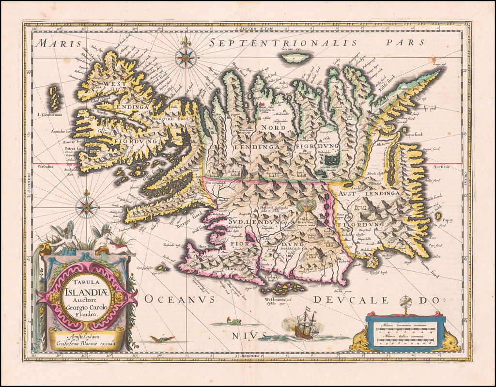Tabula Islandiae Auctore Georgio Carolo Flandro By Willem Janszoon Blaeu