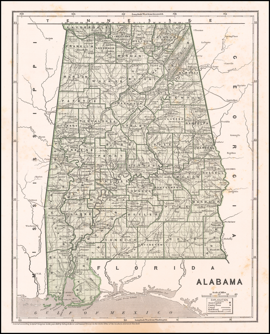 Alabama By Sidney Morse  &  Samuel Breese