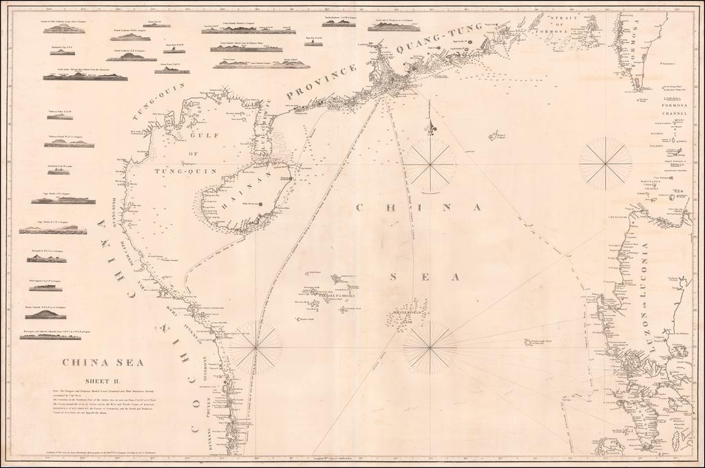 China Sea  Sheet II . . . 1823  (Hong Kong, Taiwan, Philippines, etc) By James Horsburgh