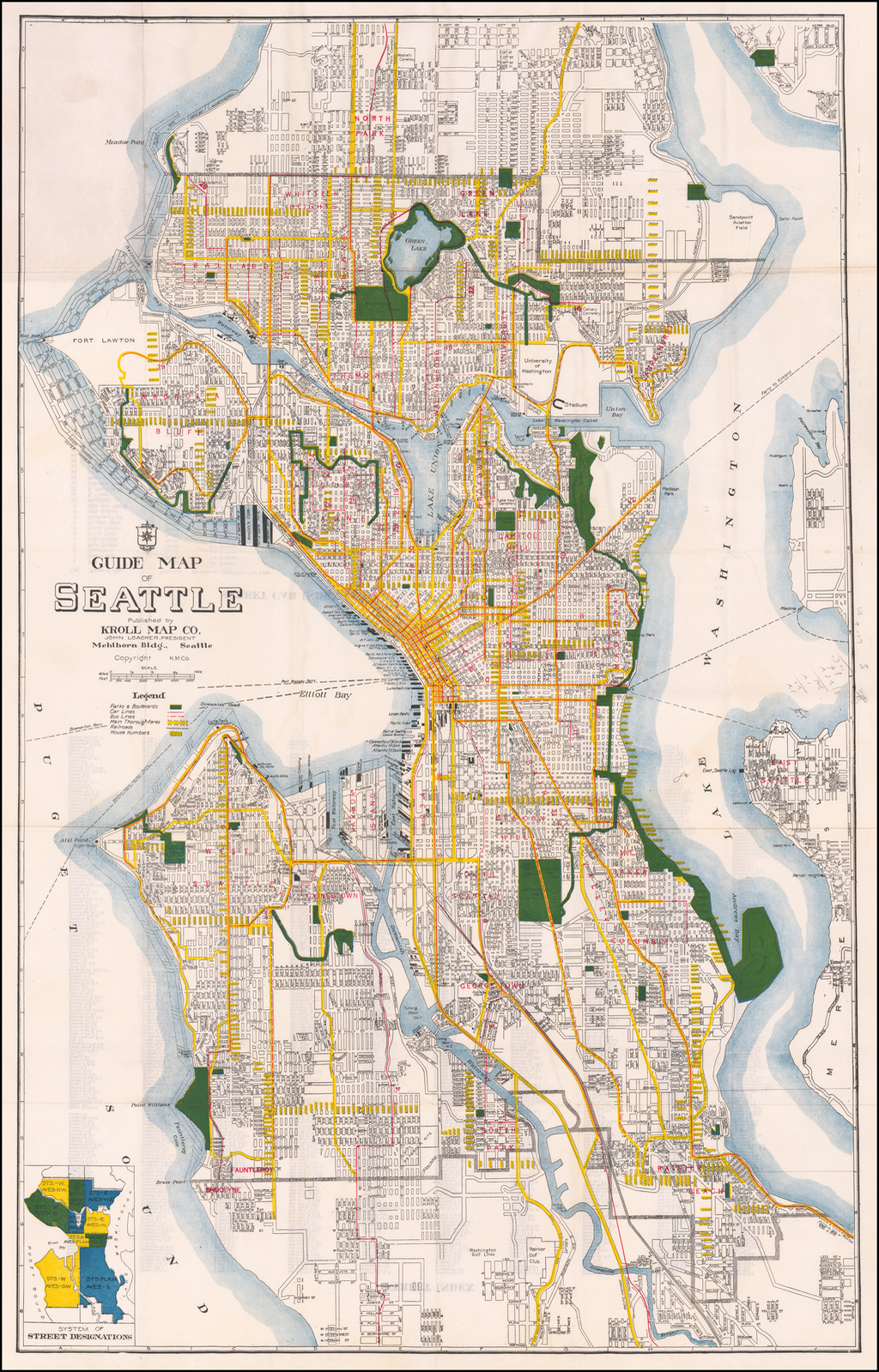 Guide Map of Seattle . . . By Kroll Map Company