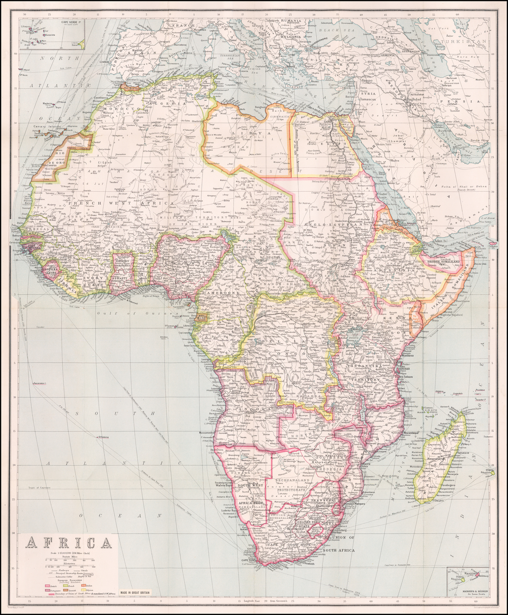 Africa By George Philip & Son