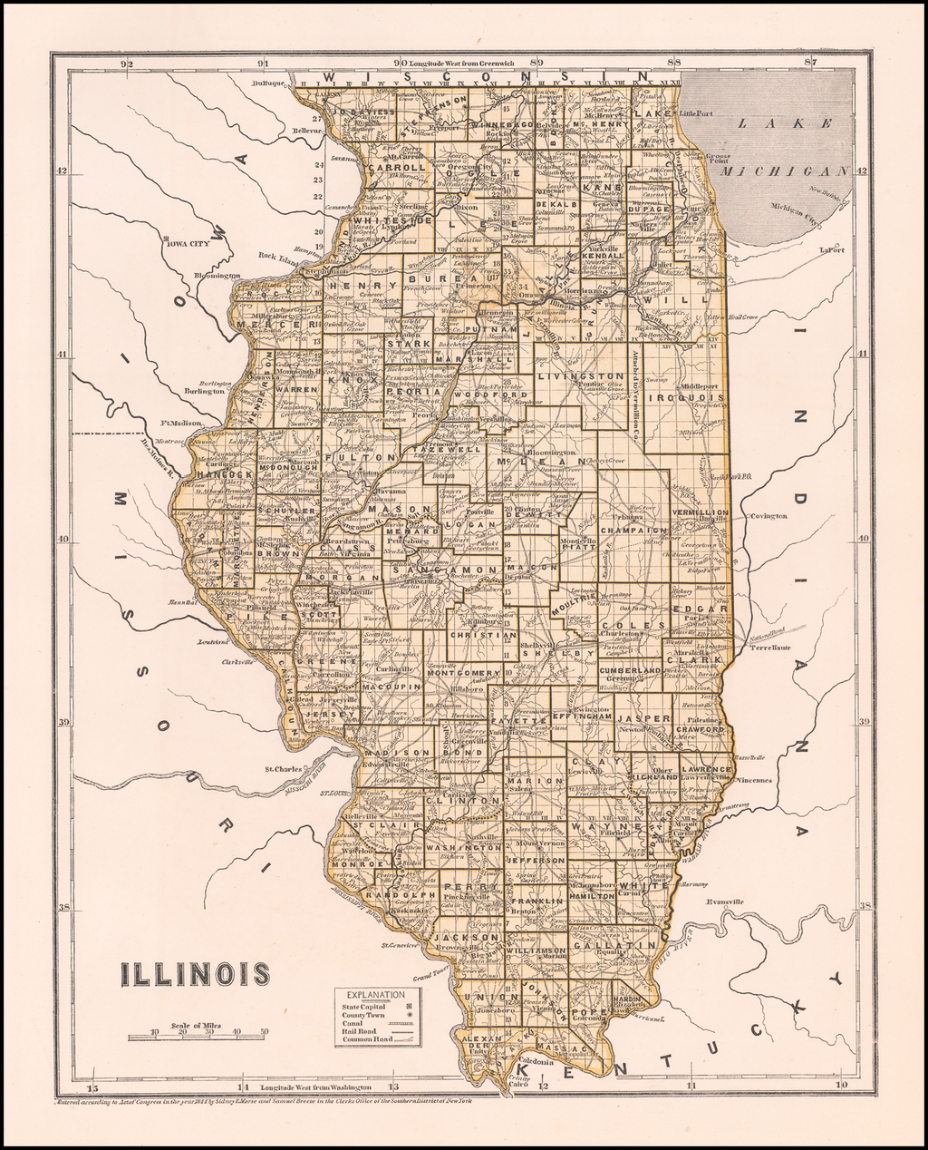 Illinois By Sidney Morse  &  Samuel Breese