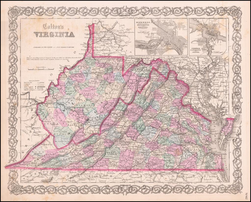 Virginia By Joseph Hutchins Colton