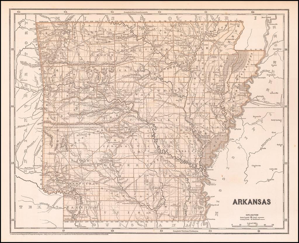 Arkansas By Sidney Morse  &  Samuel Breese