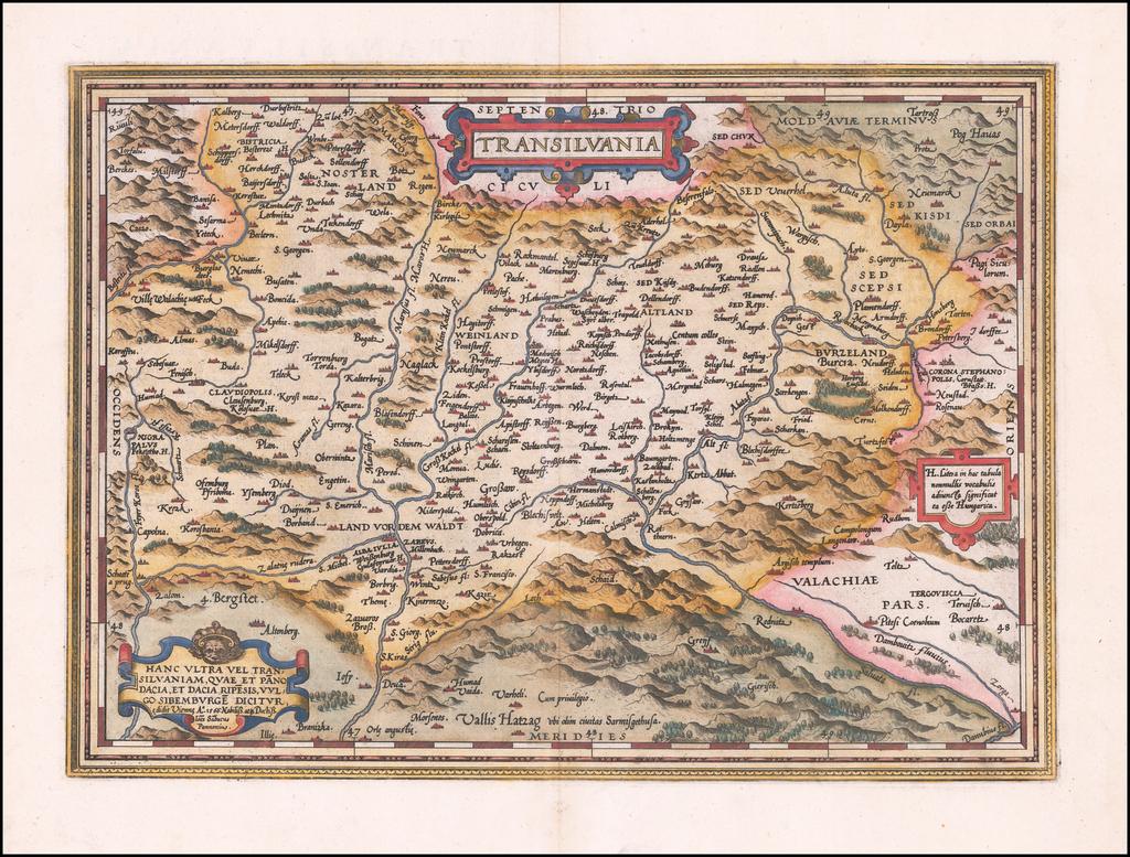 Transilvania By Abraham Ortelius