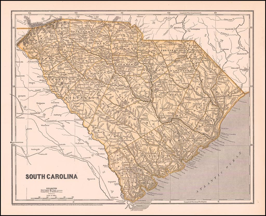 South Carolina By Sidney Morse  &  Samuel Breese