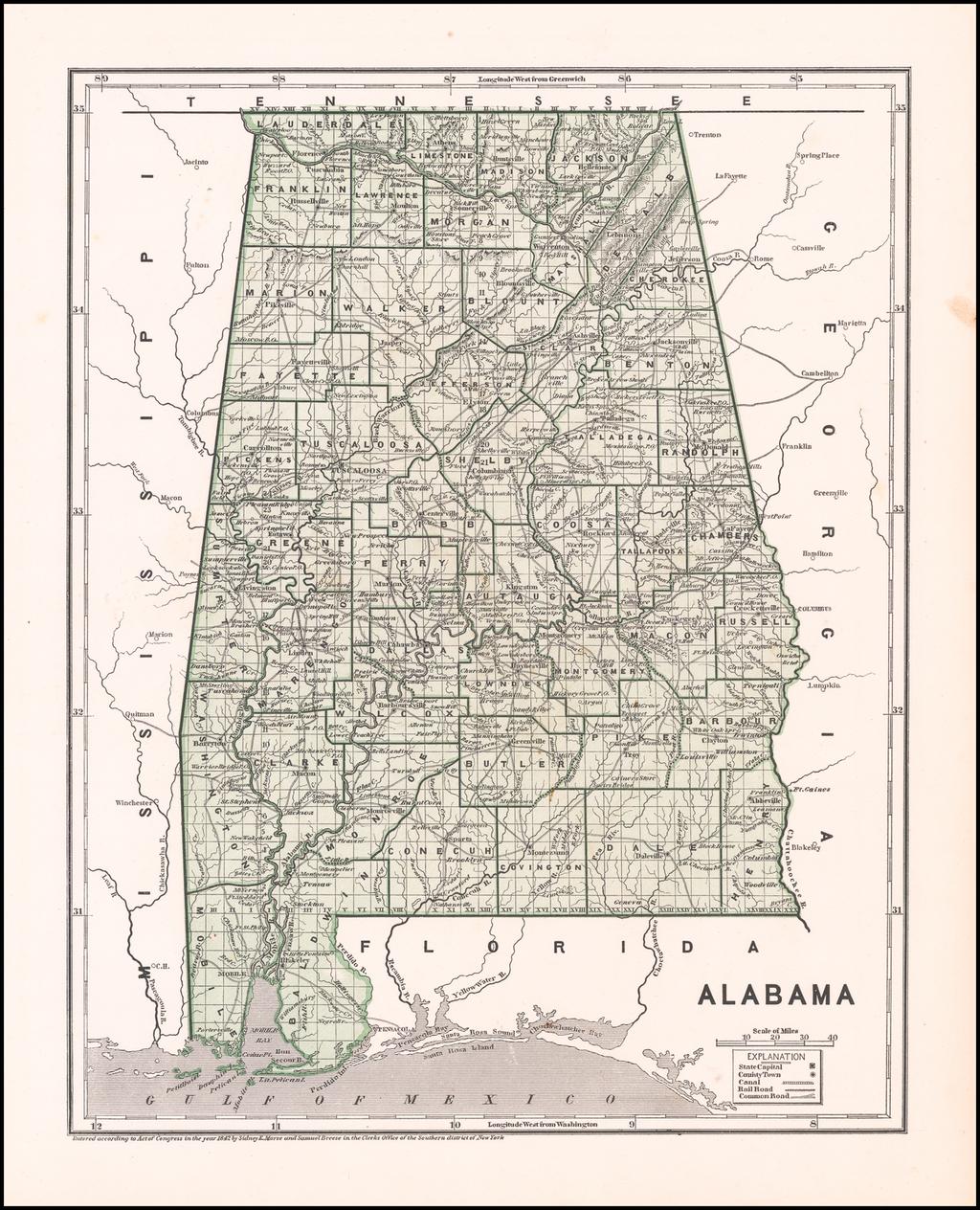 Alabama By Sidney Morse  &  Samuel Breese