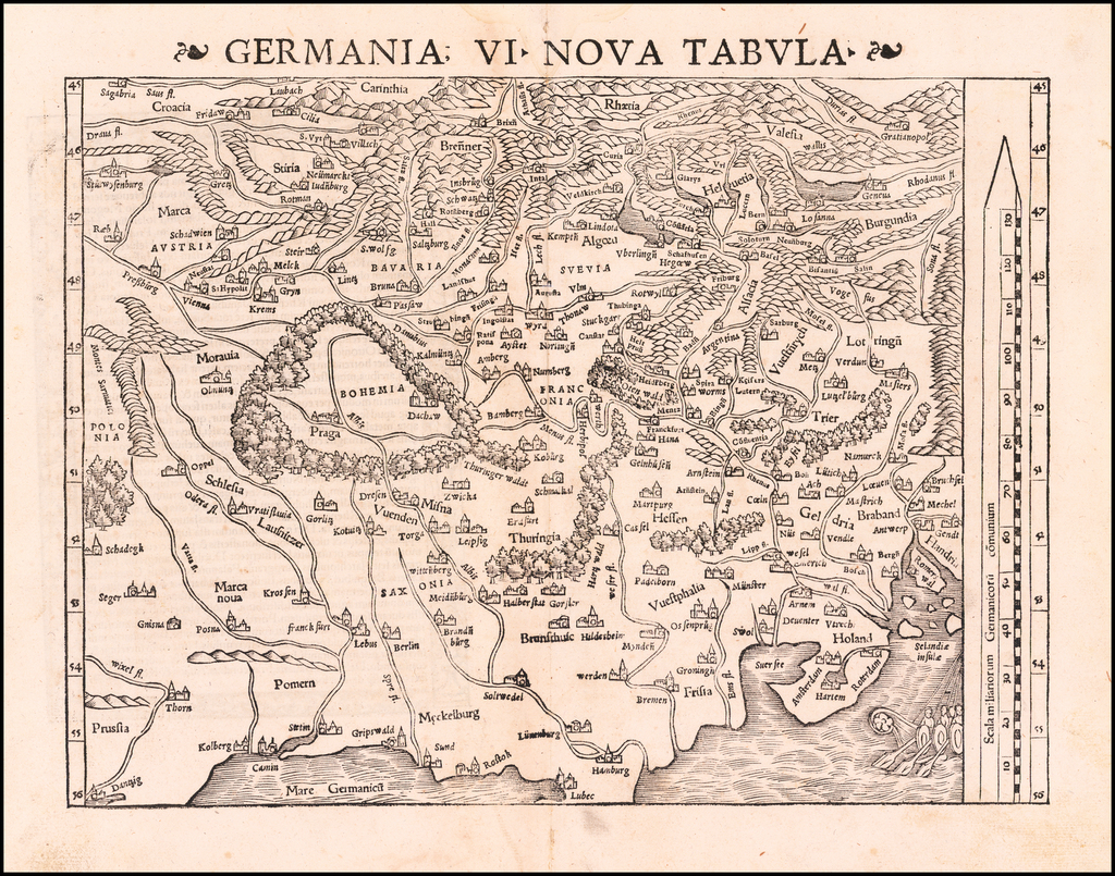 Germania VI Nova Tabula By Sebastian Münster