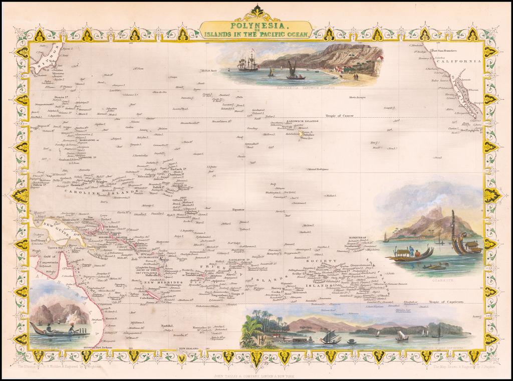 Polynesia, or Islands In the Pacific Ocean By John Tallis