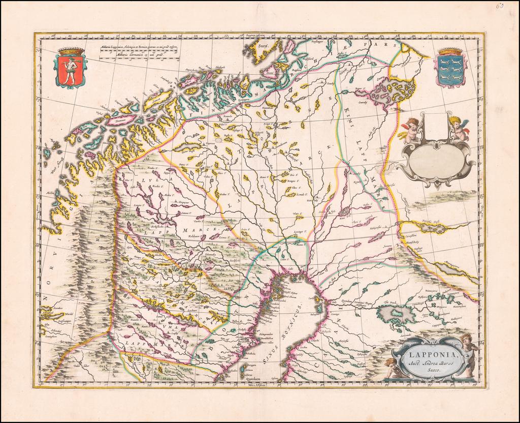 Lapponia Auct Andrea Buraeo Sueco By Johannes Blaeu - Abraham Wolfgang