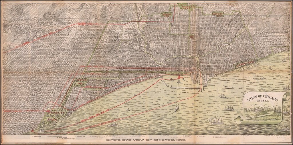 Bird's Eye View of Chicago, 1893 By Peter Roy