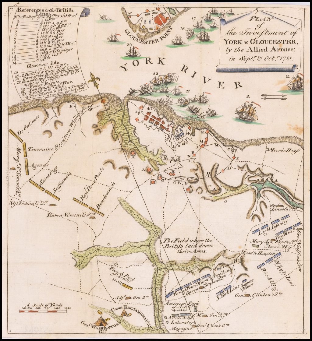Plan of the Investment of York & Glouchester, by the Allied Armies:  in Sept. & Oct. 1781 By Thomas Abernethie