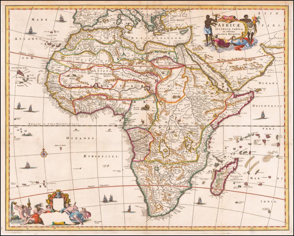 Africae Accurata Tabula ex officina Iacobum Meursium By John Ogilby