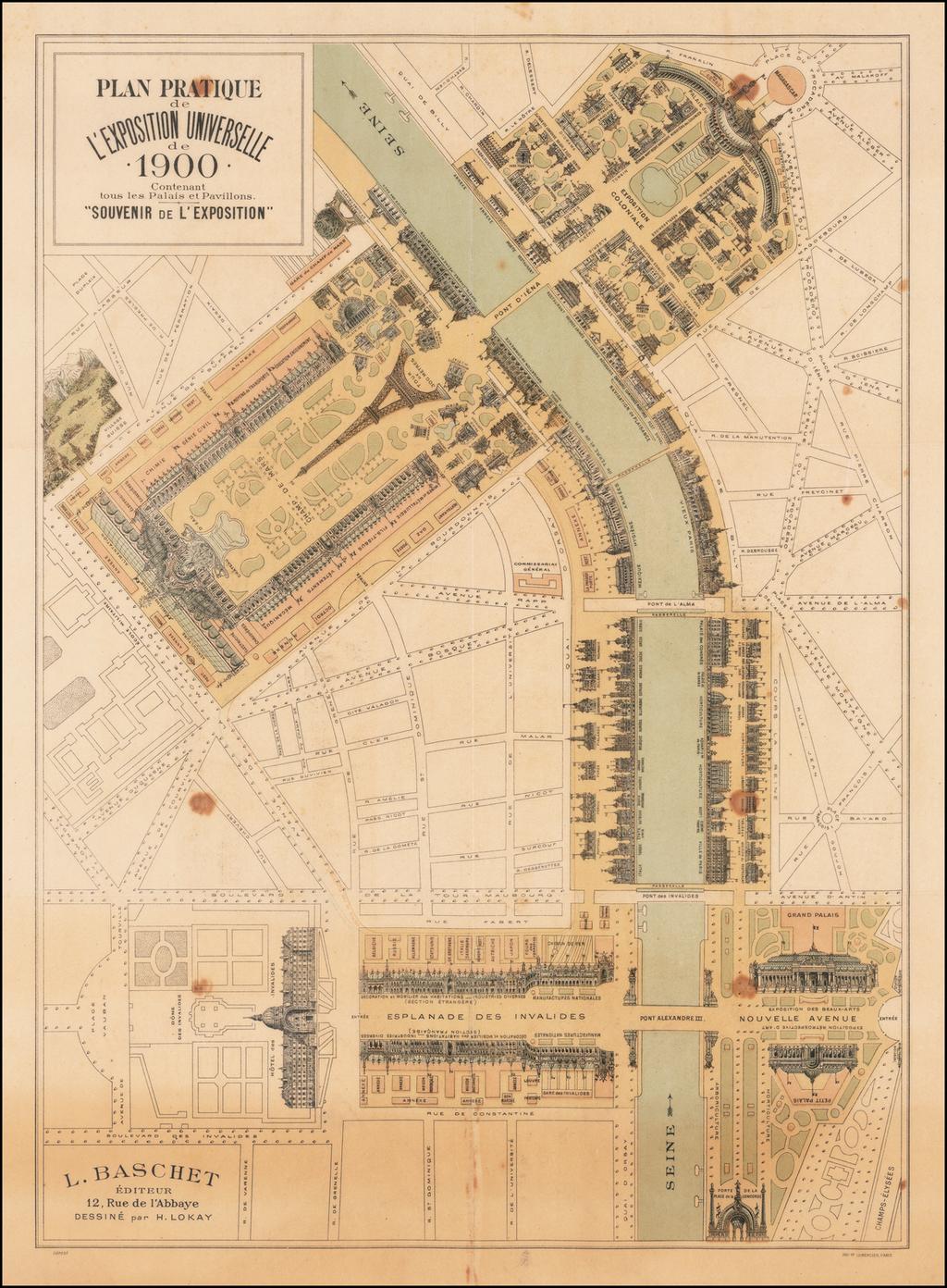 Plan Pratique de L'Exposition Universelle de 1900 Contenant tous les Palais et Pavillons . . .  By L Baschet