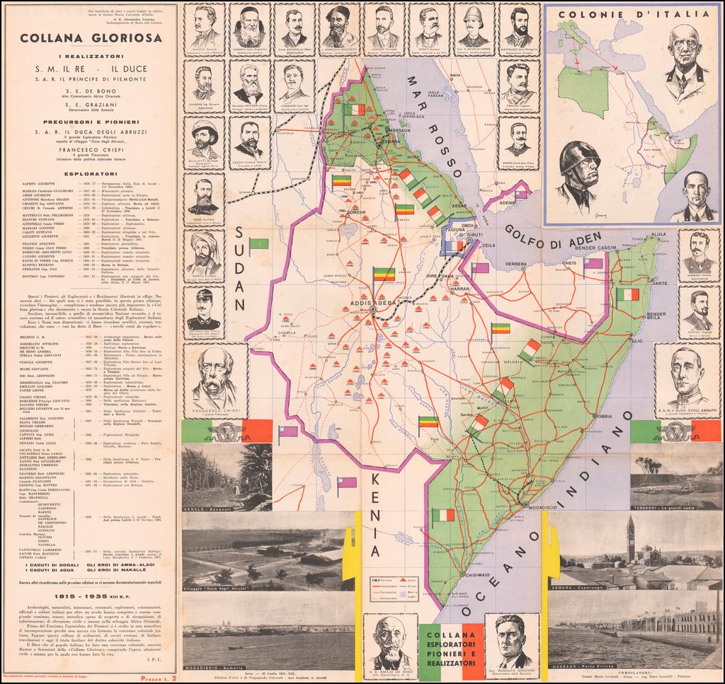 [Ethiopia, Somalia, Eritrea & Djibouti]  Collana Gloriosa / Colonie D'Italia Africa Orientale By Edizioni d'Arte e di Propaganda Coloniale