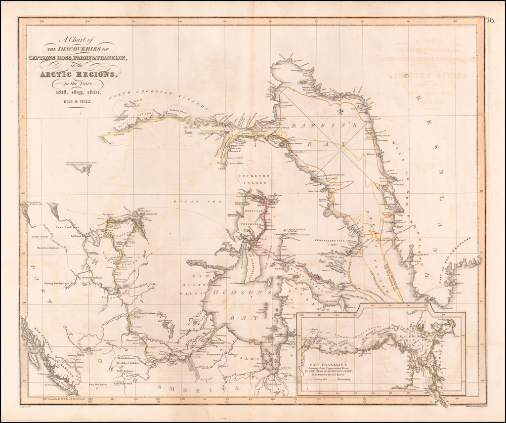 A Chart of the Discoveries of Captains Ross, Parry & Franklin, in the Arctic Regions, In the Years 1818, 1819, 1820, 1821 & 1822. By John Thomson