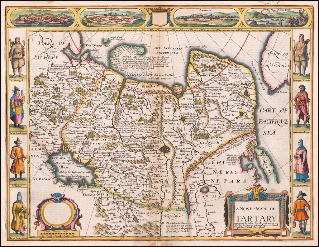 A Newe Mape of Tartary augmented by John Speede . . . 1626 By John Speed