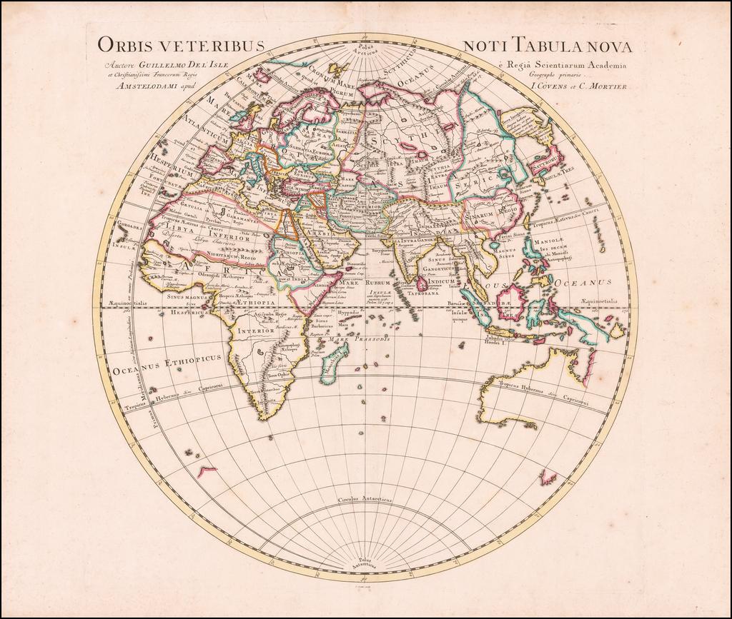 Orbis Veteribus Noti Tabula Nova . . . By Johannes Covens  &  Cornelis Mortier