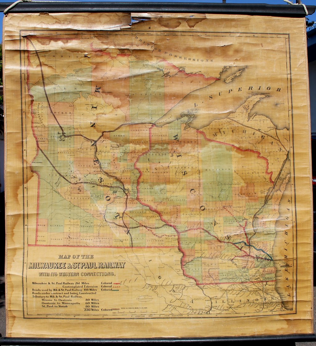 Map of the Milwaukee & St. Paul Railway with its Western Connections... By G.W. Colton